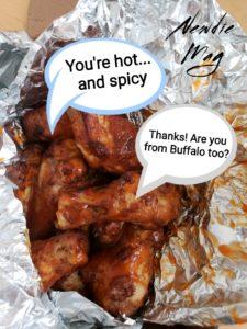 Buffalo wings flirting