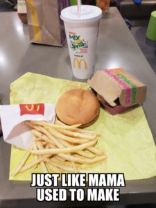 Fast food from mom