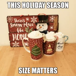 Size matters when it comes to hot chocolate