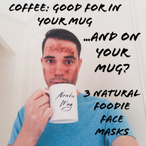 A coffee based face scrub can exfoliate and energize